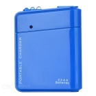 Portable Battery Mobile Charger Converter Adapter for Iphone / Samsung + More - Blue (4 x AA)