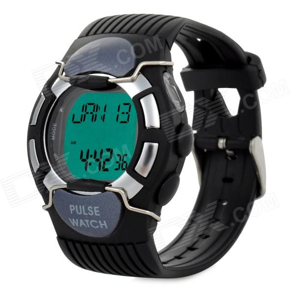 Pulse Heart Rate Monitor Calories Counter Digital Watch - Black (1 x CR2025) чехол для для мобильных телефонов for motorola moto g2 xt1063 motorola moto g g 2 g2 xt1063 s for moto g 2nd gen