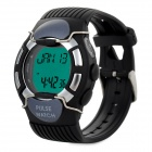 Pulse Heart Rate Monitor Calories Counter Digital Watch - Black (1 x CR2025)