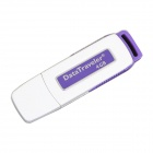 USB 2.0 Rechargeable Flash Drive Voice Recorder - Orange + White (4GB)