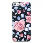 3D Rose Pattern Protective Kunststoff zurück Fall w / Flashing für iPhone 5 - Bunt (1 x CR2016)