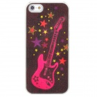 3D Guitar Style Protective Plastic Back Case w/ Flashing for Iphone 5 - Multicolored (1 x CR2016)