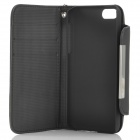 Protective PU Leather Flip Open Case for Iphone 5C - Black