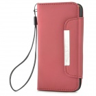 Schutz PU-Lederetui w / Card Slots für iPhone 5c - Red