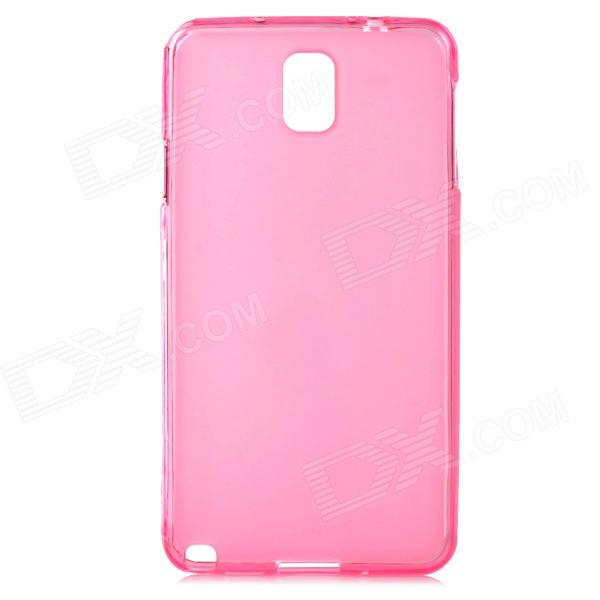 Protective Silicone Soft Back Case for Samsung Galaxy Note 3 N9000 - Translucent Pink super shiny 1440pcs ss16 3 8 4mm clear ab glitter non hotfix crystal ab color 3d nail art decorations flatback rhinestones 16ss