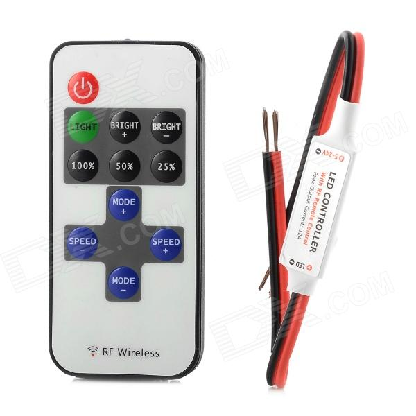 E7508 Mini 10-key Wireless LED Controller - Black + White + Red объектив для мобильных телефонов 30 3 1 iphone 4 5 samsung s4 s5 hbtehgret