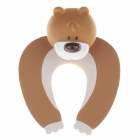 Cute Cartoon Bear Style Safety Door Stopper - Brown + White
