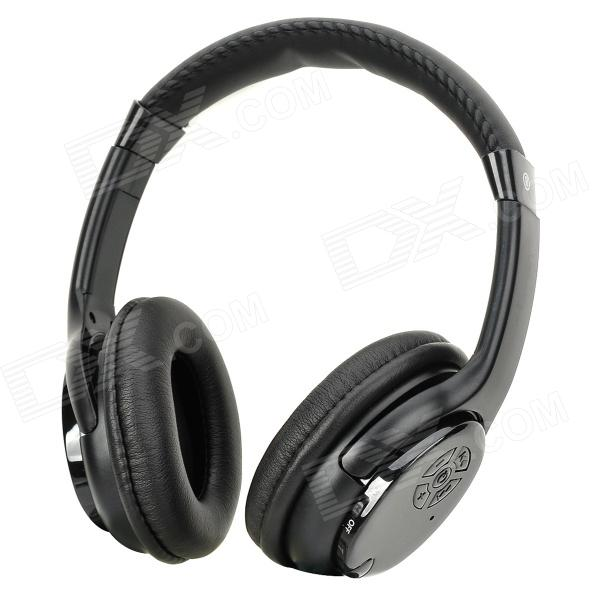 QinYin MD-99 Stereo Headphones MP3 Player w/ TF / FM - Black sh s5 rechargeable sports mp3 player headphones headset w fm tf black