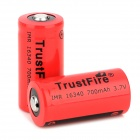 TrustFire IMR 3.7V 16340 700mAh Rechargeable Li-ion Battery (2 PCS)
