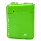 Portable Battery Mobile Charger Converter Adapter for Iphone / Samsung + More - Green (4 x AA)