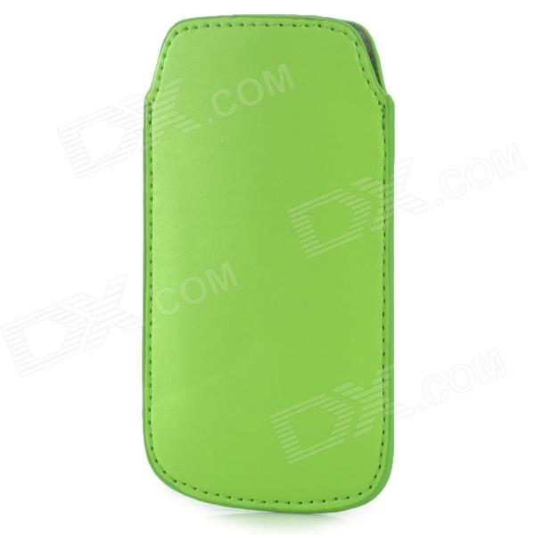 Protective PU Leather Case for Samsung i9190 Galaxy S4 Mini - Yellow Green