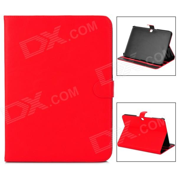 Protective PU Leather Flip Open Case for Samsung Galaxy Tab3 P5200 - Red floveme luxury flip stand case for samsung galaxy tab3 10 1 p5200 tab3 pu leather protective cover pouch bag black for tab 3