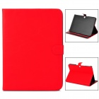 Protective PU Leather Flip Open Case for Samsung Galaxy Tab3 P5200 - Red