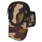 Outdoor Sports Arm Bag for Iphone 5 - Camouflage (Size M)