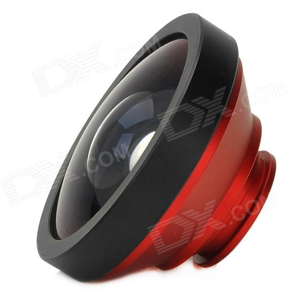 Detachable 0.4X Super Wide Angle Lens for Iphone 4 / 4S / 5 / Samsung Galaxy S3 i9300 - Red + Black 1more super bass headphones black and red