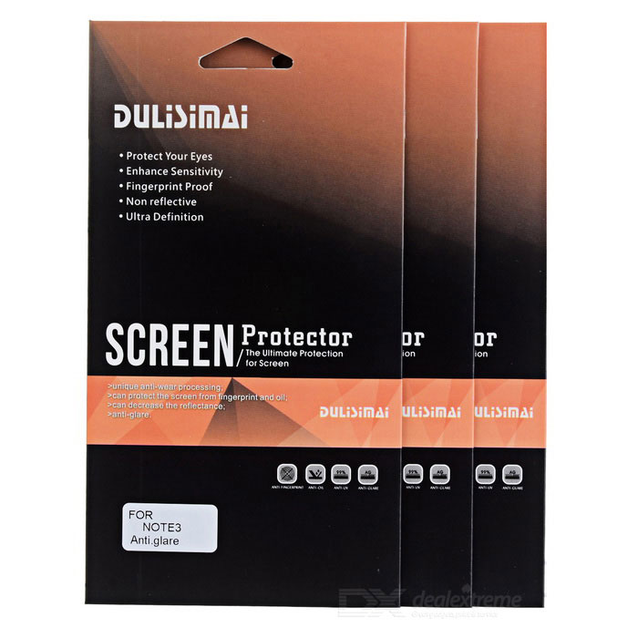 Protecção PET Matte Screen Guard Film para Samsung Galaxy Note N9000 3 - Transparente (3 PCS)