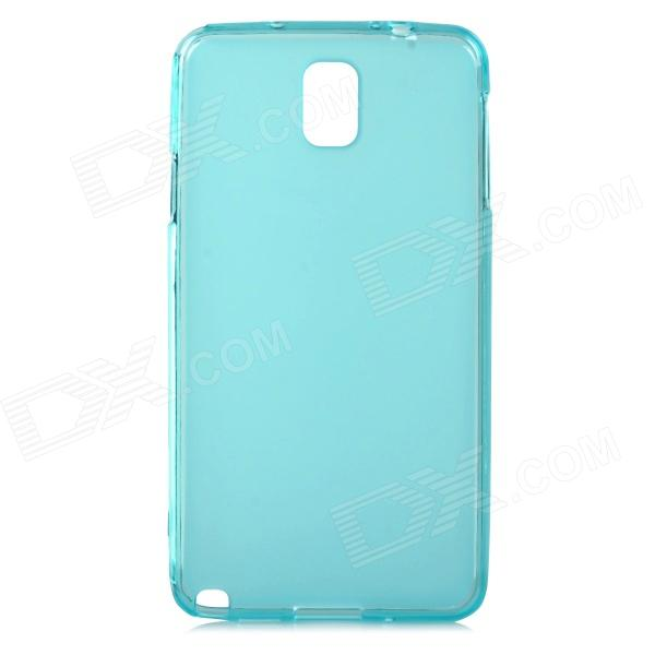 Protective Silicone Soft Back Case for Samsung Galaxy Note 3 N9000 - Translucent Blue pannovo silicone shockproof fallproof dustproof case for samsung galaxy note 3 camouflage green