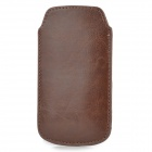 Protective PU Leather Case for Samsung i9190 Galaxy S4 Mini - Brown
