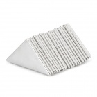 Triangle Zincing NdFeB Magnets - Silver (20 PCS)