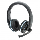 AITA AT-356MV Stereo Headphone w/ Microphone / Volume Control - Black + Blue