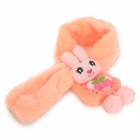 HQS-G105291 Cute Rabbit Doll Soft Plush Scarf for Kids - Orange
