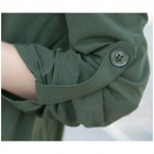 Cotone stile causale Blended tessuti lunga giacca a vento - verde dell'esercito (XL)