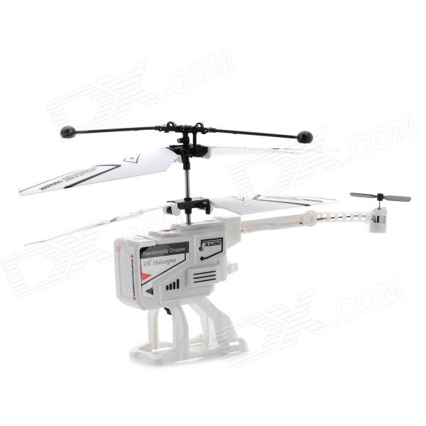 J288 Mini Folding Deformation 3.5-CH RC Helicopter - Black + White xinlin shiye x123 3 5 ch r c infrared control helicopter black yellow