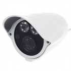 "HaiKe 8360+8510 1/3"" CCD 700TVL PAL Surveillance Security Camera w / 2-IR LED - White"
