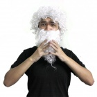 Thickening Extended Santa Claus Wig + Beard - White