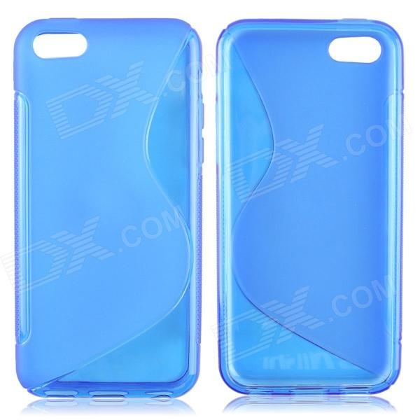 S Style Protective TPU Back Case for Iphone 5C - Blue