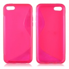 S Style Protective TPU Back Case for Iphone 5C - Deep Pink