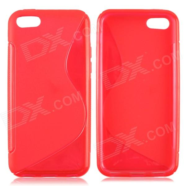 S Style Protective TPU Back Case for Iphone 5C - Red s style protective tpu back case for lg g2 optimus g fluorescent red