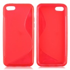 S Style Protective TPU Back Case for Iphone 5C - Red