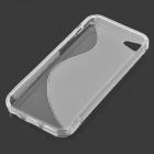 S Shaped Protective TPU Back Cover Case for Iphone 5C - White + Transparent