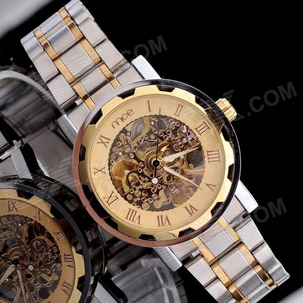 MCE 01-0060062-1  Hollow-Out Automatic Mechanical Wrist Watch - Silver + Golden