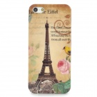 The Eiffel Tower Style Protective PC Back Case for Iphone 5 - Light Yellow + Black