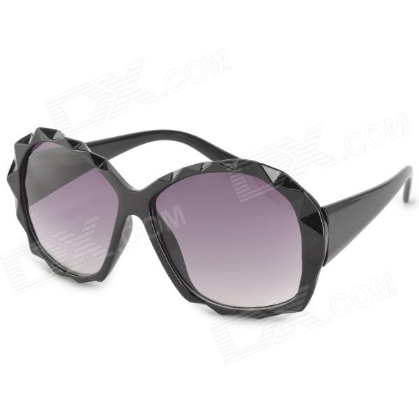 Fashion 3D Diamond Frame UV400 Protection Sunglasses - Black