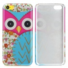 Cute Awl Pattern Protective Plastic Back Case for Iphone 5C - Multicolored