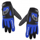 Good Hand Cycling Bicycle Nylon Full Finger Glove - Blue + Black (Size XL)