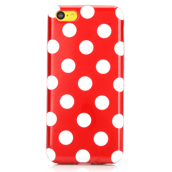 Stylish Polka Dot Pattern Protective TPU Back Case for Iphone 5C - Red + White full spectrum cob 400w led grow light grow leds growing tent for hydroponic indoor greenhouse garden plants growing veg bloom