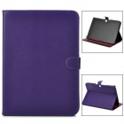 Protective PU Leather Flip Open Case for Samsung Galaxy Tab3 P5200 - Purple