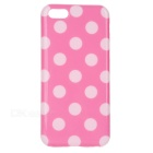 Stylish Polka Dot Pattern Protective TPU Back Case for Iphone 5C - Pink + White