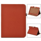 Protective Lichee Pattern PU Leather Flip Open Case for Samsung Galaxy Tab3 P5200 - Brown
