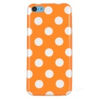 Stylish Polka Dot Pattern Protective TPU Back Case for Iphone 5C - Orange + White