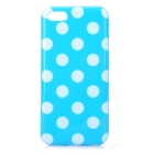 Stylish Dots Pattern TPU Back Case for iPhone 5c - Blue + White