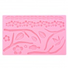 DIY Plum Blossom Style Silicone Baking Cookie Cake Mold - Pink