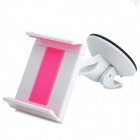 Desktop / Car Mount Holder w/ Suction Cup for Iphone / Samsung / HTC / GPS - White