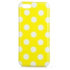 Dots Pattern Stylish TPU Back Case for Iphone 5C - Yellow + White
