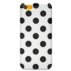 Dots Pattern Stylish TPU Back Case for Iphone 5C - White + Black