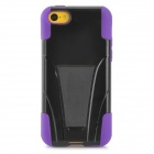 Protective Detachable Back Case w/ Stand Holder for iPhone 5c - Black + Purple